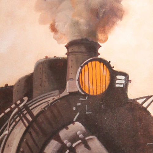 nostalgia of steam locomotives 11, 26 x 22 inch, kishore pratim biswas,26x22inch,canvas,paintings,cityscape paintings,landscape paintings,impressionist paintings,street art,contemporary paintings,paintings for dining room,paintings for living room,paintings for office,paintings for hotel,paintings for school,acrylic color,GAL0106032120