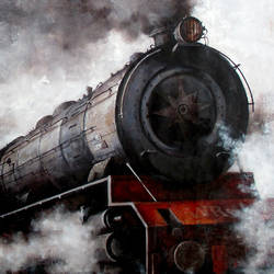 nostalgia of steam locomotives 15, 44 x 33 inch, kishore pratim biswas,44x33inch,canvas,paintings,cityscape paintings,landscape paintings,modern art paintings,impressionist paintings,contemporary paintings,realistic paintings,paintings for dining room,paintings for living room,paintings for office,paintings for hotel,paintings for school,acrylic color,GAL0106032121