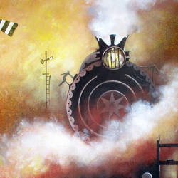 nostalgia of steam locomotives 19, 36 x 36 inch, kishore pratim biswas,36x36inch,canvas,cityscape paintings,landscape paintings,impressionist paintings,contemporary paintings,paintings for dining room,paintings for living room,paintings for hotel,paintings for school,paintings for dining room,paintings for living room,paintings for hotel,paintings for school,acrylic color,GAL0106032123