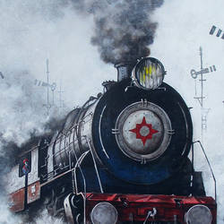nostalgia of steam locomotives 29, 44 x 38 inch, kishore pratim biswas,44x38inch,canvas,paintings,cityscape paintings,landscape paintings,modern art paintings,conceptual paintings,impressionist paintings,street art,paintings for dining room,paintings for living room,paintings for office,paintings for hotel,paintings for school,acrylic color,GAL0106032130