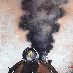 nostalgia of steam locomotives 36, 24 x 60 inch, kishore pratim biswas,24x60inch,canvas,cityscape paintings,landscape paintings,modern art paintings,conceptual paintings,impressionist paintings,paintings for dining room,paintings for living room,paintings for office,paintings for hotel,paintings for school,paintings for dining room,paintings for living room,paintings for office,paintings for hotel,paintings for school,acrylic color,GAL0106032131