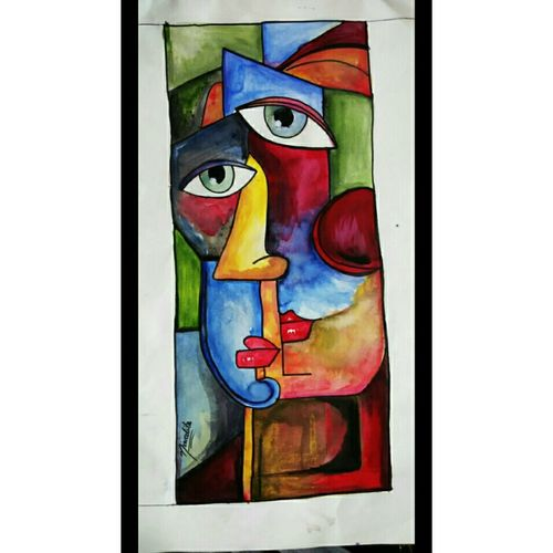 two faced peoples, 25 x 30 inch, niwedita joshi,25x30inch,drawing paper,paintings,abstract paintings,figurative paintings,art deco paintings,expressionism paintings,paintings for dining room,paintings for living room,paintings for bedroom,paintings for office,paintings for kitchen,paintings for school,paintings for hospital,acrylic color,GAL01247032147