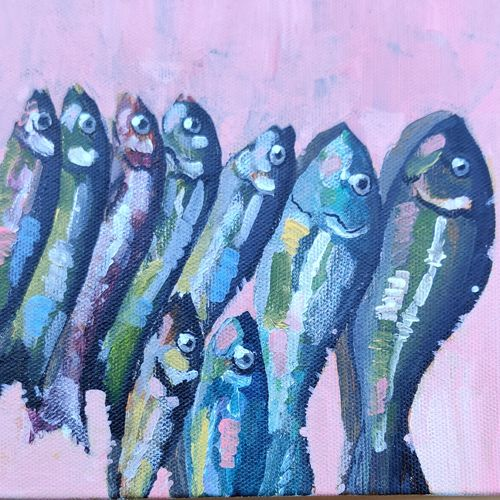 fishes spoke in whispers, 6 x 6 inch, neha  gupta,6x6inch,canvas board,paintings,modern art paintings,still life paintings,nature paintings | scenery paintings,abstract expressionism paintings,art deco paintings,expressionism paintings,impressionist paintings,photorealism paintings,photorealism,pop art paintings,realism paintings,street art,animal paintings,contemporary paintings,love paintings,paintings for dining room,paintings for living room,paintings for bedroom,paintings for office,paintings for bathroom,paintings for hotel,paintings for kitchen,paintings for school,paintings for dining room,paintings for living room,paintings for bedroom,paintings for office,paintings for bathroom,paintings for hotel,paintings for kitchen,paintings for school,acrylic color,GAL02043232148