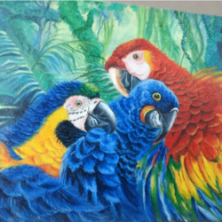 parrot, 12 x 15 inch, jyoti manani,12x15inch,canvas,paintings,nature paintings | scenery paintings,acrylic color,oil color,GAL02051932151