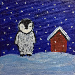 snow night, 4 x 4 inch, bijal panchmatia,4x4inch,canvas,paintings,wildlife paintings,figurative paintings,landscape paintings,modern art paintings,conceptual paintings,portrait paintings,nature paintings | scenery paintings,abstract expressionism paintings,art deco paintings,expressionism paintings,illustration paintings,impressionist paintings,minimalist paintings,pop art paintings,animal paintings,contemporary paintings,love paintings,baby paintings,children paintings,kids paintings,paintings for dining room,paintings for living room,paintings for bedroom,paintings for office,paintings for bathroom,paintings for kids room,paintings for hotel,paintings for kitchen,paintings for school,paintings for hospital,acrylic color,GAL01961132154