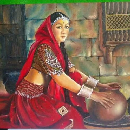 woman, 20 x 16 inch, jyoti manani,20x16inch,canvas,paintings,abstract paintings,multi piece paintings,religious paintings,nature paintings | scenery paintings,paintings for dining room,paintings for bedroom,paintings for hotel,paintings for kitchen,paintings for dining room,paintings for bedroom,paintings for hotel,paintings for kitchen,oil color,GAL02051932162