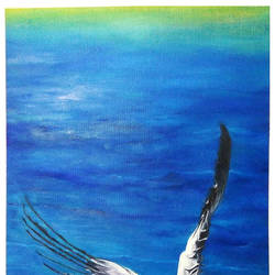 the angel, 18 x 30 inch, manasri biswas,18x30inch,canvas board,paintings,wildlife paintings,paintings for dining room,paintings for living room,paintings for bedroom,paintings for hotel,paintings for hospital,oil color,GAL02054132171