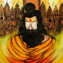 rishi , 36 x 30 inch, mrinal  dutt,36x30inch,canvas,paintings,figurative paintings,contemporary paintings,paintings for dining room,paintings for living room,paintings for bedroom,paintings for office,paintings for bathroom,paintings for kids room,paintings for hotel,paintings for kitchen,paintings for school,paintings for hospital,acrylic color,GAL01311732187