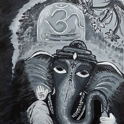 bal ganesh, 12 x 16 inch, tejal bhagat,12x16inch,canvas board,paintings,abstract paintings,photorealism paintings,photorealism,realism paintings,surrealism paintings,ganesha paintings | lord ganesh paintings,love paintings,children paintings,lord shiva paintings,paintings for dining room,paintings for living room,paintings for bedroom,paintings for office,paintings for kids room,paintings for hotel,paintings for kitchen,paintings for school,paintings for hospital,acrylic color,GAL02041532189