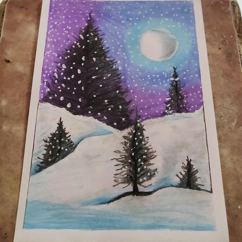 blistering snowy mountains, 8 x 12 inch, chetan lokhande,8x12inch,rice paper,drawings,abstract drawings,paintings for living room,paintings for bedroom,paintings for hotel,charcoal,pen color,pencil color,poster color,watercolor,graphite pencil,paper,GAL02059732227
