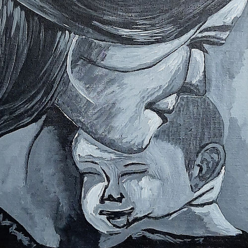 whispering love, 12 x 16 inch, tejal bhagat,12x16inch,canvas board,paintings,abstract paintings,figurative paintings,portrait paintings,expressionism paintings,impressionist paintings,photorealism paintings,photorealism,portraiture,realism paintings,surrealism paintings,love paintings,baby paintings,children paintings,kids paintings,paintings for dining room,paintings for living room,paintings for bedroom,paintings for office,paintings for kids room,paintings for hotel,paintings for kitchen,paintings for school,paintings for hospital,acrylic color,GAL02041532245