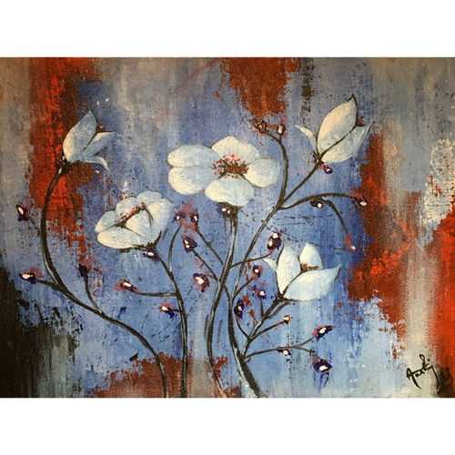 the pastel petals, 12 x 16 inch, aashiya iqbal,12x16inch,canvas,paintings,flower paintings,conceptual paintings,still life paintings,abstract expressionism paintings,art deco paintings,paintings for living room,paintings for bedroom,paintings for hotel,acrylic color,GAL01335032273