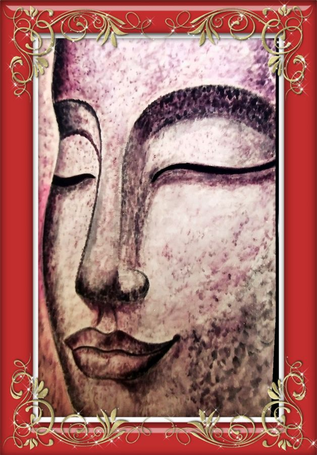 lord buddha side face, 24 x 17 inch, ajay mishra,24x17inch,canvas,paintings,buddha paintings,oil color,GAL02057232283