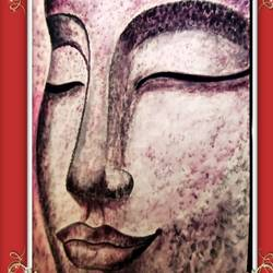 lord buddha side face, 24 x 17 inch, ajay mishra,24x17inch,canvas,paintings,buddha paintings,oil color,GAL02057232284