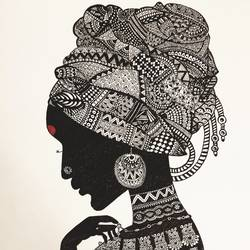 zentangle art: bold and beautiful, 10 x 13 inch, tanvi goenka,10x13inch,drawing paper,drawings,figurative drawings,fine art drawings,portrait drawings,ink color,pen color,GAL02064432296