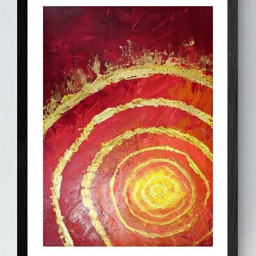 inside sun , 17 x 12 inch, kajal mevada ,17x12inch,thick paper,paintings,abstract paintings,conceptual paintings,nature paintings | scenery paintings,paintings for dining room,paintings for living room,paintings for bedroom,paintings for hotel,paintings for kitchen,acrylic color,GAL02051332325