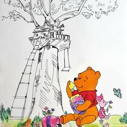 best friends, 10 x 13 inch, tanvi goenka,10x13inch,drawing paper,drawings,kids drawings,paintings for bedroom,paintings for kids room,paintings for school,acrylic color,mixed media,pen color,photo ink,GAL02064432330