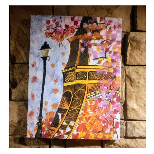 effiel tower , 12 x 16 inch, nupur  gupta ,12x16inch,canvas,paintings,abstract paintings,modern art paintings,abstract expressionism paintings,art deco paintings,street art,paintings for dining room,paintings for living room,paintings for bedroom,paintings for office,paintings for bathroom,paintings for kitchen,paintings for school,paintings for hospital,acrylic color,GAL02066232338