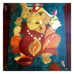 lord ganesha , 12 x 16 inch, nupur  gupta ,12x16inch,canvas,modern art paintings,religious paintings,expressionism paintings,illustration paintings,ganesha paintings | lord ganesh paintings,paintings for dining room,paintings for living room,paintings for bedroom,paintings for office,paintings for hotel,paintings for school,paintings for hospital,paintings for dining room,paintings for living room,paintings for bedroom,paintings for office,paintings for hotel,paintings for school,paintings for hospital,acrylic color,GAL02066232339