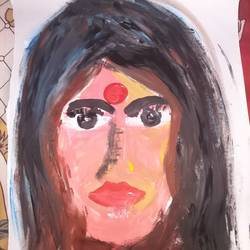 canvas, 17 x 30 inch, debalina biswas,17x30inch,canvas,paintings,paintings for bedroom,paintings for bedroom,poster color,GAL02066532346