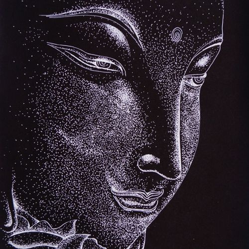 buddha , 12 x 17 inch, ajay kumar thakur,buddha drawings,paintings for office,arches paper,ball point pen,12x17inch,GAL011693235