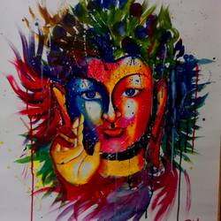 buddha, 24 x 30 inch, shiuli majumder,24x30inch,cartridge paper,paintings,abstract paintings,buddha paintings,watercolor,GAL01355232364