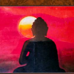 lord buddha in sunlight, 22 x 17 inch, ajay mishra,22x17inch,canvas,paintings,buddha paintings,oil color,GAL02057232384