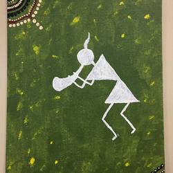 warli art , 10 x 12 inch, radha kannan,10x12inch,canvas,paintings,warli paintings,acrylic color,GAL02069732432