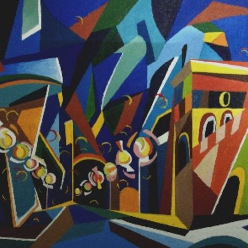the riddle of the city, 30 x 40 inch, dayana kamble,30x40inch,canvas,abstract paintings,cityscape paintings,modern art paintings,abstract expressionism paintings,art deco paintings,street art,oil color,GAL01452332458