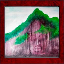 lord buddha made in mount, 21 x 17 inch, ajay mishra,21x17inch,canvas,paintings,buddha paintings,oil color,GAL02057232467