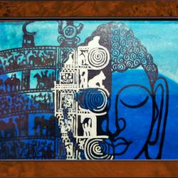lord buddha in torad gate , 23 x 17 inch, ajay mishra,23x17inch,canvas,paintings,buddha paintings,oil color,GAL02057232471