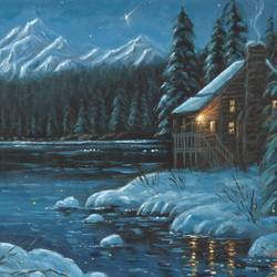 the dream cottage, 16 x 12 inch, niraj pradhan,16x12inch,canvas board,paintings,landscape paintings,nature paintings | scenery paintings,art deco paintings,realism paintings,realistic paintings,paintings for dining room,paintings for living room,paintings for bedroom,paintings for office,paintings for kids room,paintings for hotel,paintings for kitchen,paintings for hospital,acrylic color,GAL049232477