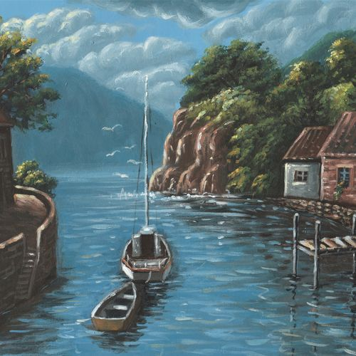 the beautiful morning, 16 x 12 inch, niraj pradhan,16x12inch,canvas board,paintings,cityscape paintings,landscape paintings,nature paintings | scenery paintings,art deco paintings,realism paintings,realistic paintings,paintings for dining room,paintings for living room,paintings for bedroom,paintings for office,paintings for kids room,paintings for hotel,paintings for kitchen,paintings for school,paintings for hospital,acrylic color,GAL049232479