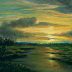 morning - shades on earth, 24 x 18 inch, seby augustine,24x18inch,canvas,paintings,landscape paintings,nature paintings | scenery paintings,realism paintings,contemporary paintings,paintings for dining room,paintings for living room,paintings for bedroom,paintings for office,paintings for kids room,paintings for hotel,paintings for kitchen,paintings for school,paintings for hospital,acrylic color,GAL015032497
