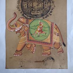 royal elephant, 9 x 13 inch, abhishek joshi,9x13inch,paper,paintings,miniature painting.,paintings for living room,paintings for bedroom,paintings for office,paintings for hotel,natural color,GAL01642532500