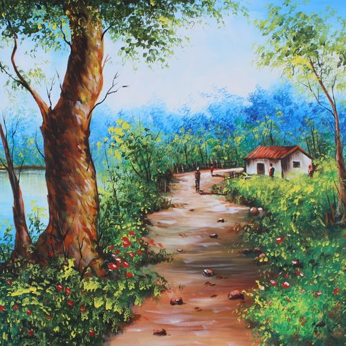 beauty of nature-01, 36 x 24 inch, shubham sheel gautam,36x24inch,canvas,paintings,nature paintings   scenery paintings,acrylic color,GAL02078832540