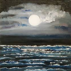 full moon, 10 x 12 inch, abhishek  nandawdekar,10x12inch,canvas,landscape paintings,acrylic color,oil color,GAL02078132549
