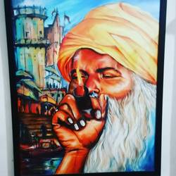banarasiya , 25 x 30 inch, arya  maurya ,25x30inch,canvas,paintings,portrait paintings,acrylic color,GAL02070532551