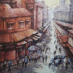 city in france-2, 15 x 22 inch, shubhashis mandal,15x22inch,handmade paper,paintings,cityscape paintings,paintings for dining room,paintings for living room,paintings for bedroom,paintings for office,paintings for hotel,watercolor,GAL02057432587