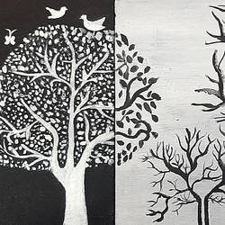 abstract trees, 24 x 8 inch, tejal bhagat,24x8inch,canvas board,paintings,abstract paintings,wildlife paintings,flower paintings,landscape paintings,modern art paintings,multi piece paintings,conceptual paintings,nature paintings | scenery paintings,abstract expressionism paintings,expressionism paintings,illustration paintings,impressionist paintings,animal paintings,love paintings,warli paintings,paintings for dining room,paintings for living room,paintings for bedroom,paintings for office,paintings for bathroom,paintings for hotel,paintings for kitchen,paintings for school,paintings for hospital,acrylic color,GAL02041532613