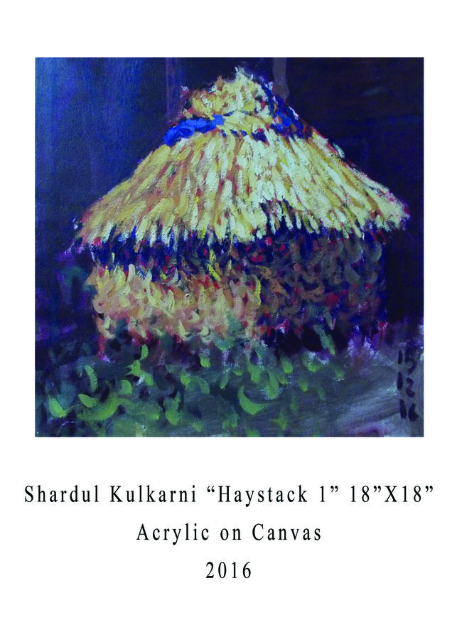 haystack-1, 18 x 18 inch, shardul kulkarni,18x18inch,canvas,paintings,landscape paintings,impressionist paintings,pop art paintings,paintings for living room,paintings for bedroom,paintings for office,paintings for hotel,paintings for kitchen,paintings for living room,paintings for bedroom,paintings for office,paintings for hotel,paintings for kitchen,acrylic color,GAL02084532633