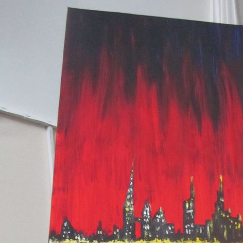 city, 12 x 36 inch, priyavrath dakua,12x36inch,canvas,abstract paintings,cityscape paintings,paintings for living room,paintings for bedroom,paintings for office,paintings for living room,paintings for bedroom,paintings for office,acrylic color,GAL0955932638