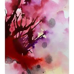 hibiscus, 6 x 8 inch, nayantara bose,6x8inch,brustro watercolor paper,paintings,abstract paintings,modern art paintings,abstract expressionism paintings,contemporary paintings,paintings for living room,paintings for bedroom,paintings for office,paintings for hotel,paintings for living room,paintings for bedroom,paintings for office,paintings for hotel,photo ink,watercolor,GAL02086132659
