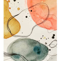 space , 6 x 8 inch, nayantara bose,6x8inch,brustro watercolor paper,paintings,abstract paintings,paintings for living room,paintings for office,paintings for bathroom,paintings for hotel,pen color,watercolor,GAL02086132660