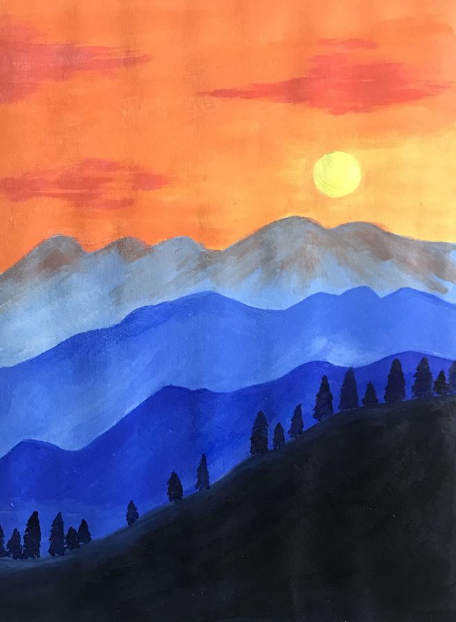 sunset, 8 x 11 inch, aparajita mandal,8x11inch,handmade paper,landscape paintings,paintings for living room,paintings for bedroom,paintings for hotel,paintings for hospital,paintings for living room,paintings for bedroom,paintings for hotel,paintings for hospital,acrylic color,GAL01914632670