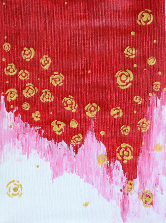 golden roses, 8 x 11 inch, ishita pugla,8x11inch,canvas,paintings,abstract paintings,paintings for living room,acrylic color,GAL02085832671