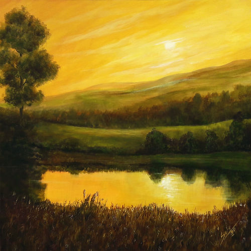 evening moods, 24 x 24 inch, seby augustine,24x24inch,canvas,paintings,still life paintings,nature paintings | scenery paintings,photorealism,realism paintings,contemporary paintings,paintings for dining room,paintings for living room,paintings for bedroom,paintings for office,paintings for kids room,paintings for hotel,paintings for school,paintings for hospital,acrylic color,GAL015032677