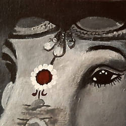 ganesha, 6 x 4 inch, tejal bhagat,6x4inch,canvas board,paintings,religious paintings,photorealism paintings,photorealism,realism paintings,surrealism paintings,ganesha paintings | lord ganesh paintings,realistic paintings,love paintings,lord shiva paintings,acrylic color,GAL02041532679