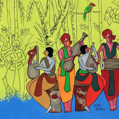 entertainers, 22 x 17 inch, chetan katigar,22x17inch,canvas,paintings,abstract paintings,figurative paintings,flower paintings,foil paintings,cityscape paintings,landscape paintings,modern art paintings,multi piece paintings,conceptual paintings,religious paintings,still life paintings,portrait paintings,nature paintings | scenery paintings,abstract expressionism paintings,art deco paintings,cubism paintings,dada paintings,radha krishna paintings,contemporary paintings,love paintings,paintings for dining room,paintings for living room,paintings for bedroom,paintings for office,paintings for bathroom,paintings for kids room,paintings for kitchen,acrylic color,GAL026632682