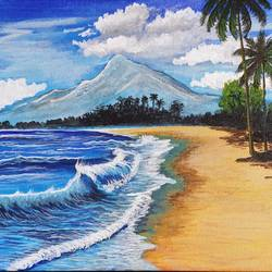 sea beach, 12 x 10 inch, lipsha sahoo,12x10inch,canvas,paintings,landscape paintings,paintings for dining room,paintings for living room,paintings for bedroom,paintings for office,paintings for hotel,paintings for school,acrylic color,GAL01763532701